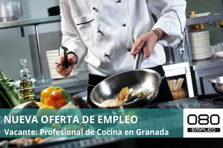 imagen oferta empleo profesional de cocina en Granada