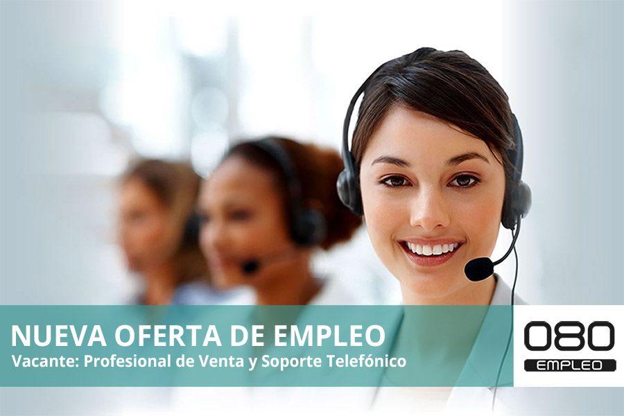 imagen oferta de empleo profesional venta y soporte telefónico logo